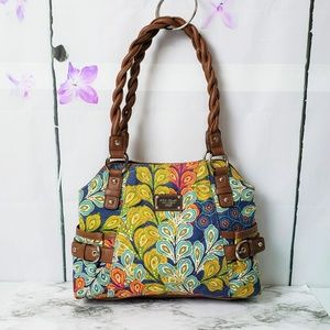 Relic Brand Collection Floral Canvas Leather Bag